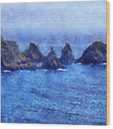 Rocks On Isle Of Guernsey Wood Print