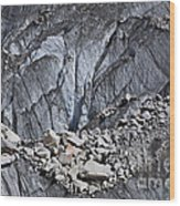 Rocks Resting On The Ghulkin Glacier Wood Print