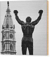 Rocky And Philadelphia Wood Print