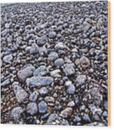 Rocky Beach Normandy France Wood Print