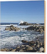 Rocky Beach On 17 Mile Drive Wood Print