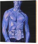 Rocky Blue Wood Print by Michael Mestas