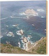 Rocky California Coast Wood Print