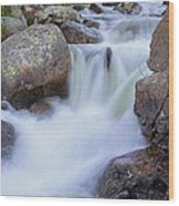Rocky Cascade Wood Print