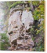 Rocky Cliff Wildcat Den Muscatine Ia 1 Wood Print