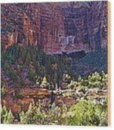 Rocky Cliff - Zion Wood Print