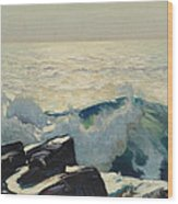 Rocky Coast And Sea Wood Print