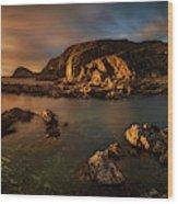 Rocky Coastline At Sunset, Point Wood Print