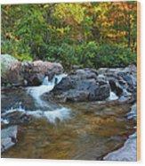 Rocky Creek Above Rocky Falls 1 Wood Print