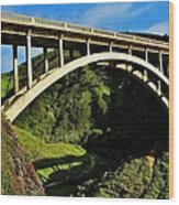 Rocky Creek Bridge Wood Print