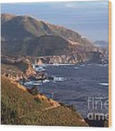 Rocky Creek Bridge In Big Sur Wood Print by Charlene Mitchell