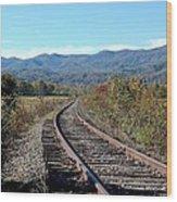 Rocky Creek Railroad Wood Print