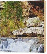 Rocky Fall Wood Print