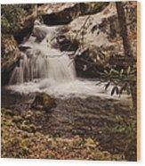 Rocky Fork Falls Wood Print