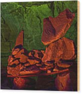 Rocky Wood Print by Kenan Sipilovic