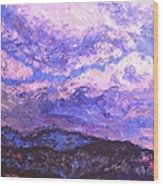 Rocky Knob Clouds Wood Print