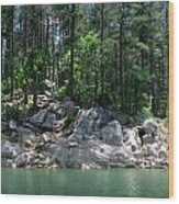 Rocky Lakeshore Wood Print