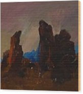 Rocky Landscape I Wood Print