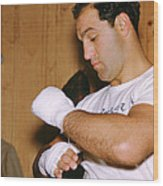 Rocky Marciano Getting Ready Wood Print