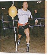 Rocky Marciano Striking Bag Wood Print