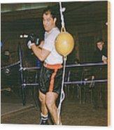 Rocky Marciano Training Hard Wood Print