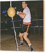 Rocky Marciano Training Wood Print