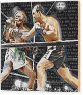 Rocky Marciano V Jersey Joe Walcott Quotes Wood Print