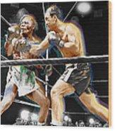 Rocky Marciano V Jersey Joe Walcott Wood Print