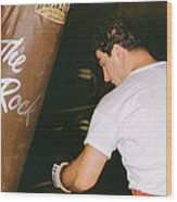 Rocky Marciano Vs. Heavy Bag Wood Print by Retro Images Archive