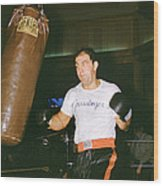 Rocky Marciano Working Heavy Bag Wood Print by Retro Images Archive