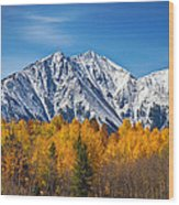 Rocky Mountain Autumn High Wood Print by James BO  Insogna