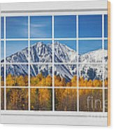 Rocky Mountain Autumn High White Picture Window Wood Print