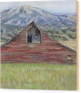 Rocky Mountain Barn Wood Print