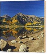 Rocky Mountain Beach Wood Print