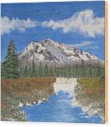 Rocky Mountain Creek Wood Print