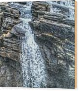 Rocky Mountain Falls Wood Print
