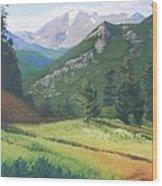 Rocky Mountain Grandeur Wood Print