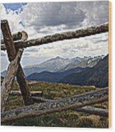 Rocky Mountain High Wood Print