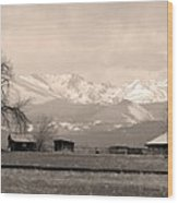 Rocky Mountain Lafayette Sepia Views Wood Print