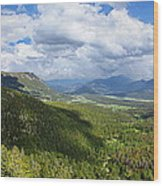 Rocky Mountain National Park Panorama Wood Print