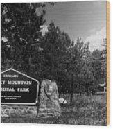 Rocky Mountain National Park Signage Wood Print
