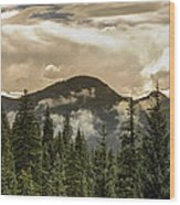 Rocky Mountain Red Wood Print