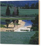 Rocky Mountain Reflection Wood Print