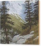 Rocky Mountain Solitude Wood Print