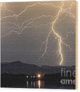 Rocky Mountain Thunderstorm  Wood Print