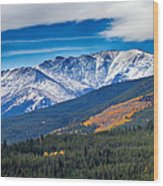 Rocky Mountains Independence Pass Wood Print