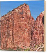 Rocky Mountains Of Zion Wood Print
