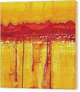 Rocky Mountains Original Painting Wood Print