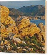 Rocky Point And Bixby Bridge Big Sur California Wood Print