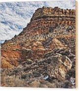 Rocky Ridge Wood Print